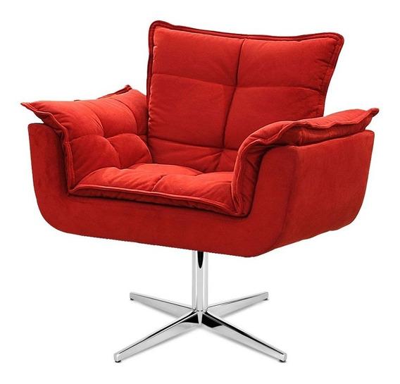 Cadeira Decorativa Opala Várias Cores Base Giratória