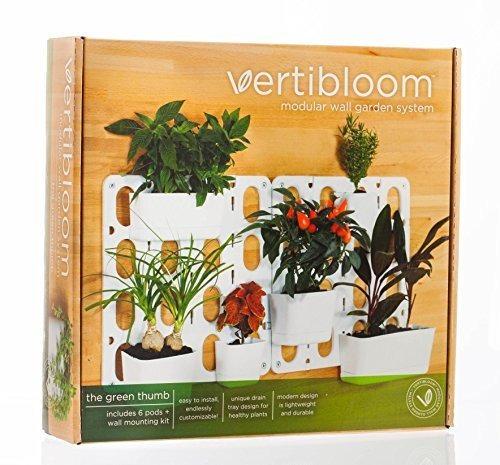 Vertibloom Living Wall Garden Starter Kit Modular Indoor Ver