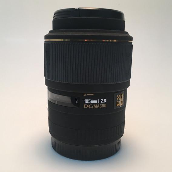 Lente Macro Sigma 105mm Canon Usada