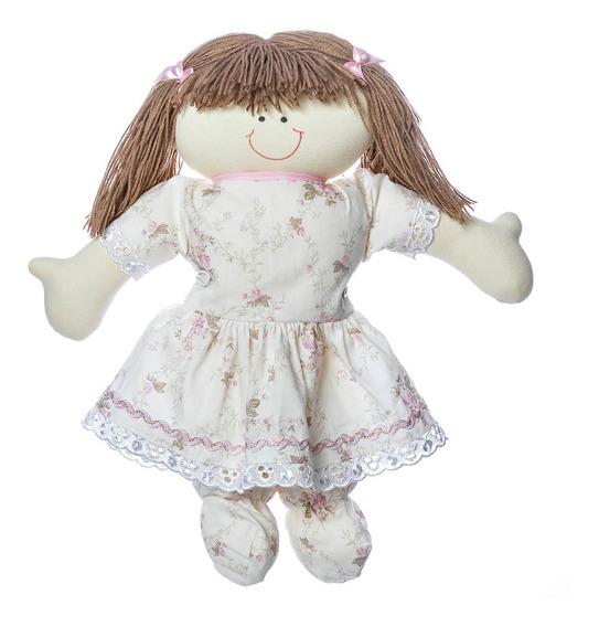 Boneca Infantil De Pano Feita À Mão Com Tecido Rosa Bebê