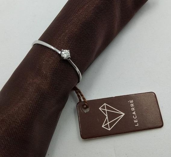 Anillo Oro Blanco 18 Kilates Con Diamante Certificado