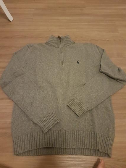 Suéter Cinza Da Polo Ralph Lauren