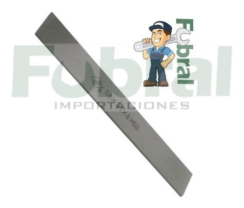 Imagen 1 de 4 de Herramienta De Corte Para Torno 1/8x3/4x5 Al 12% Fubral