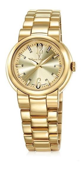 Relógio Jean Vernier Caixa Pulseira Aço 10atm Jv04209