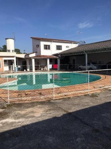 Imagem 1 de 5 de Linda Casa 900m² - 6 Dorm, Piscina, Sauna, Churrasqueira - Lorena - Ch0100