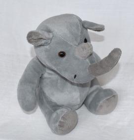 Rinoceronte De Pelúcia Cinza Macio E Fofinho 100% Poliester