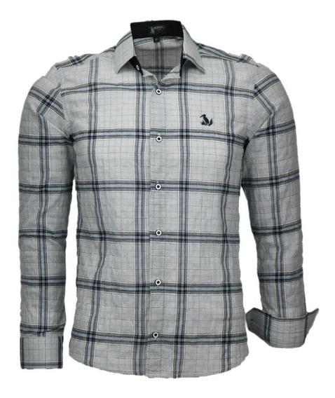 Camisa Amil Simbol Slim Masculina M Longa Lançamento 2019