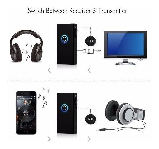 Transmissor Receptor Audio P2 Bluetooth P2 3.5mm C/ Bateria