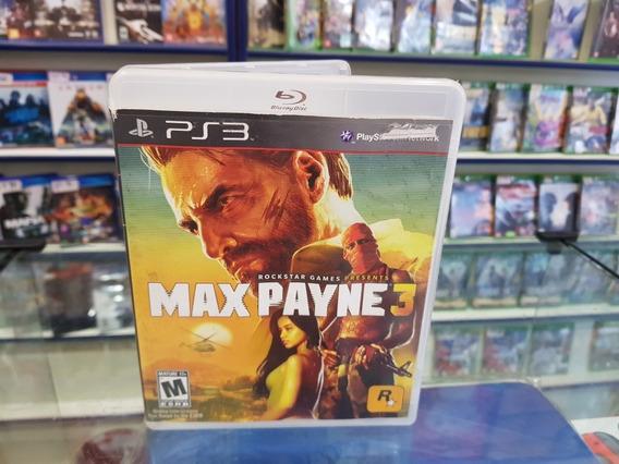 Max Payne 3 Usado Sem Manual Ps3 Mídia Física