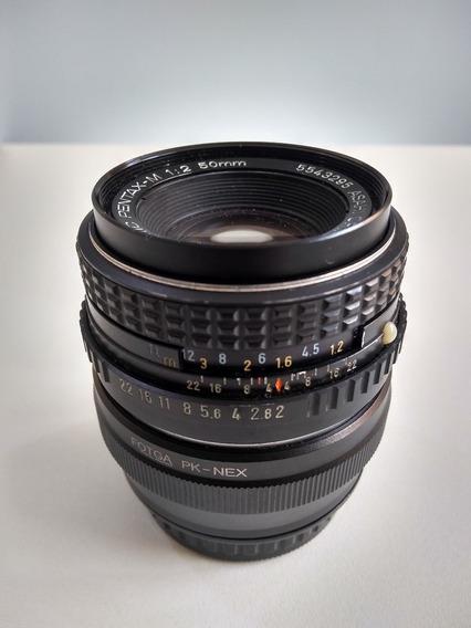 Lente Pentax 50mm F2/f22 - Para Sony Com Adapt. Pentax/ Sony
