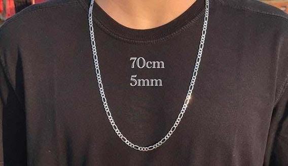 Corrente 3x1 (70cm E 5mm) Em Prata 925