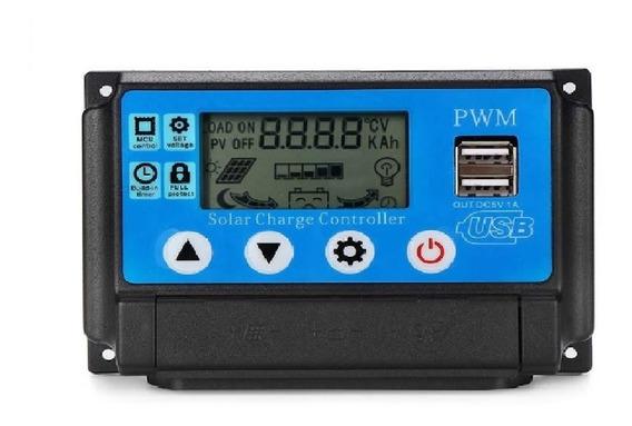 Controlador De Carga Solar 30a Sistema Fotovoltaico Con Usb