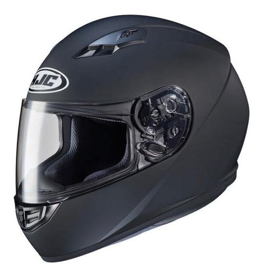 Casco Moto Hjc Integral Cs-15 Sólido Semi Flat Black