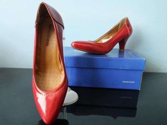 Sapato Scarpin Vermelho Sonhos Dos Pés