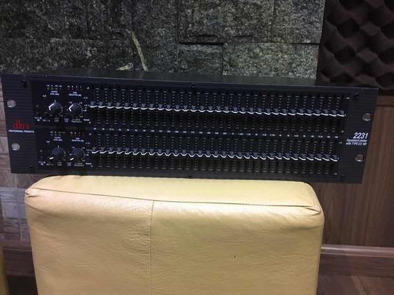 Equalizador / Limiter Dbx 2231 Stereo 2 Canais | 31 Bandas