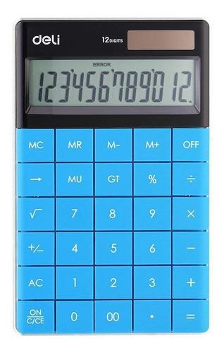 Imagen 1 de 4 de Calculadora Deli Celeste E1589