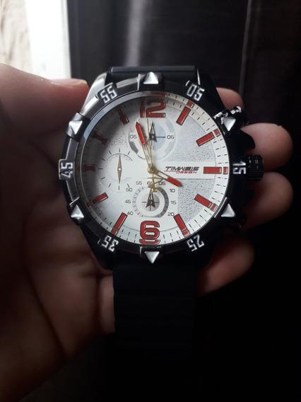 Relógio Masculino Pulseira Preta Caixa Branca Barato