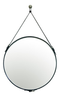 Espejo Decorativo Pared Redondo Baños Recamaras 60cm Negro