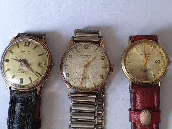 Relógios De Pulso Lote Com 3 Antigos