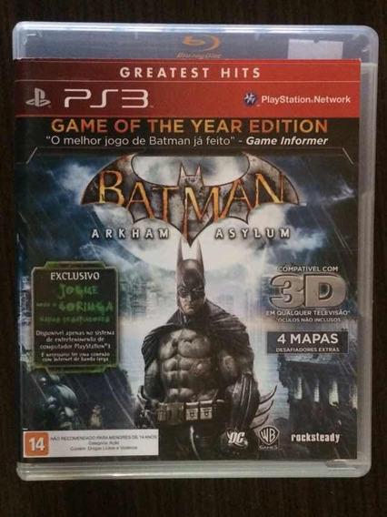 Jogo Batman: Arkham Asylum - Playstation 3 (mídia Física)