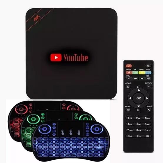 Aparelho Para Transformar Tv Em Smart Tv Mx + Mini Teclado
