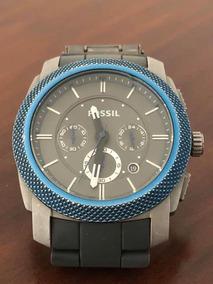 Relógio Fóssil Edição Blue - Stainless Steel Silicone Chrono