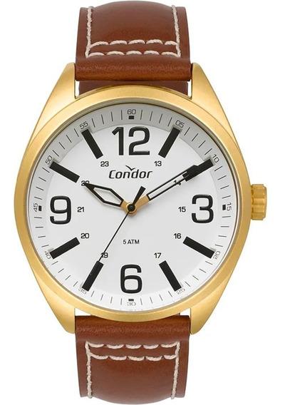 Relógio Condor De Pulseira Couro Masculino Co2035mpf/2b + Nf