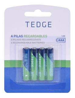 Pilas Recargables Aaa 850mah Pack 4 Unidades Tedge