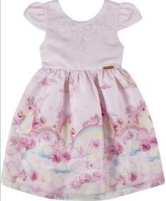 Vestido Festa Infantil Unicórnio N179