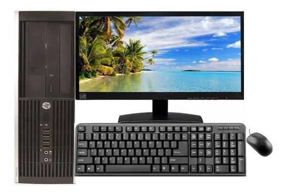 Computador Completo Hp I5 8gb Hd 500gb Wi-fi + Monitor.