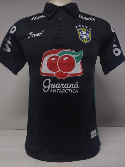 Camisa Brasil Treino Preta Promoção
