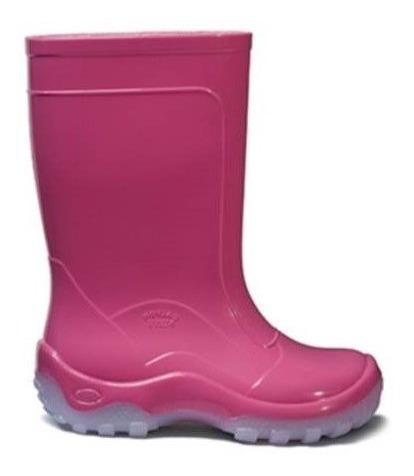 Galocha Bota Nieve Rosa Pink Infantil Top