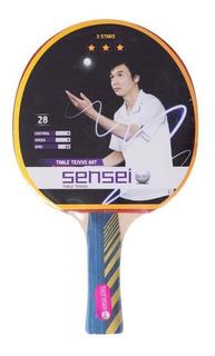 Paleta Ping Pong Sensei 3 Estrellas En Gol De Oro