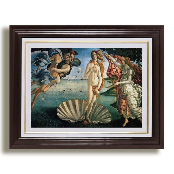Quadro Nascimento De Venus 65x45cm Botticelli Decoracao Sala