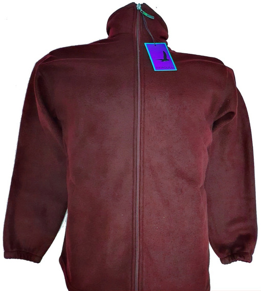 Campera Polar Hombre Anti Pilling Bordo