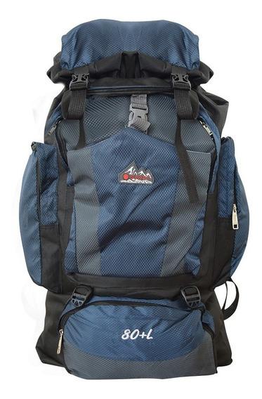 Mochila Para Viagem Camping 80l Resistente Confortável Loi