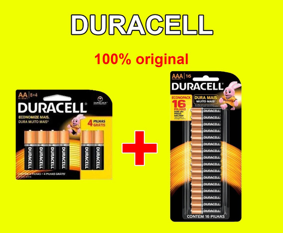 Pilha Alcalina Duracell 420aa +208 Aaa=628 Unidades Original