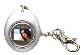 Porta Retratos Digital Lcd Relógio Formato Chaveiro 12490-cl