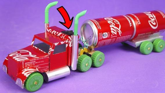 3 Caminhão Bitrem Tanque Pipa Caminhao Coca Cola Brinquedo