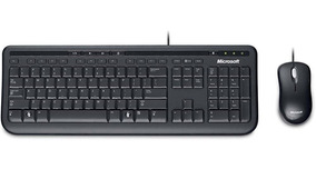 Kit Teclado E Mouse Microsoft Wired Desktop 600 Abnt2 Com Ç