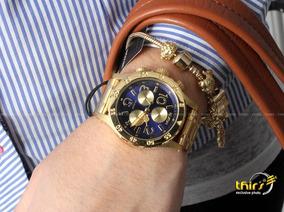 Relogio Nixon 38-20 A404 - Feminino Gold Blue Original Thirs