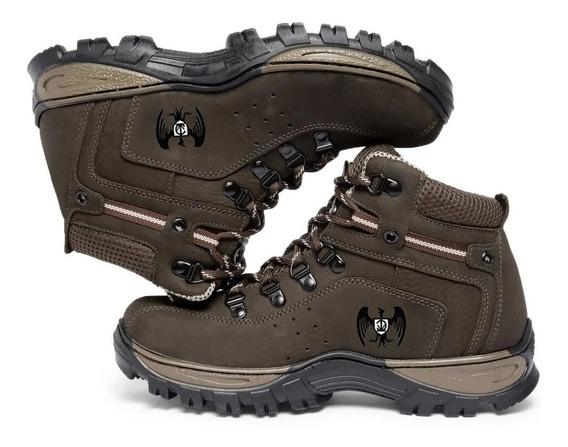 Botas Boot Couro Impermeável Trabalho Trilha N 33 A 48