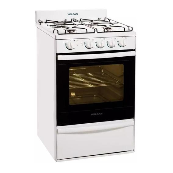 Cocina Multigas Volcan 89643vm Blanca 55cm En Cuotas