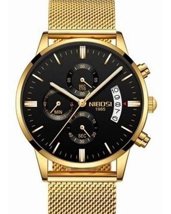Relógio Masculino Nibosi 2309 Esporte E Luxo A Prova D Água