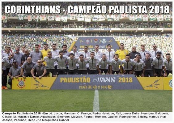 Poster Do Corinthians - Campeão Paulista De 2018