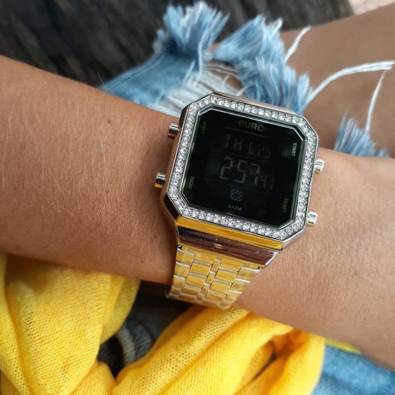 Relógio Euro Fashion Fit Diamond Prata Eubjk032ad/3p