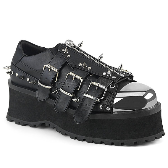 Zapatos Dark Alternativo Rock Punk Demonia Gravedigger 03