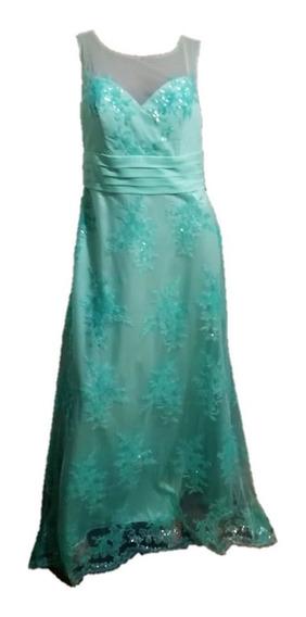 Vestido De Fiesta Aqua. Fiesta. Casamientos. Recepción. 15