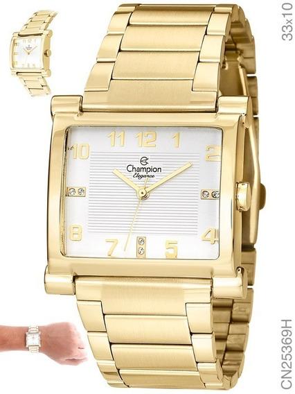 Relógio Champion Feminino Dourado Cn25369h