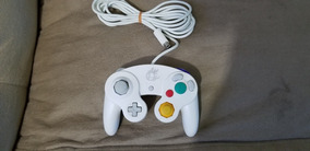 Controle Original Branco Nintendo Gamecube.